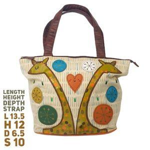 Loungefly Crowded Teeth Artist Giraffe Bag